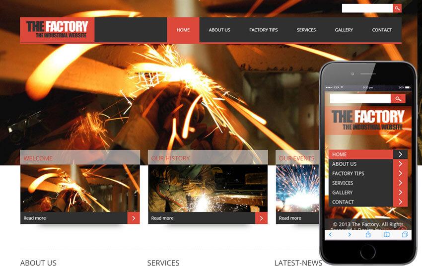 طراحی سایت صنعتی و کارخانه
